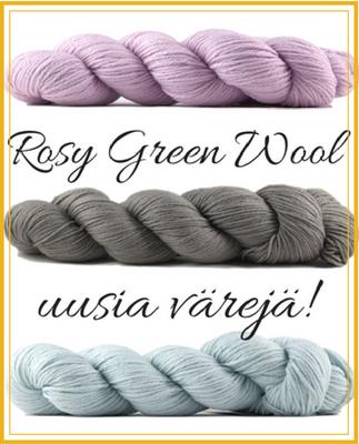 Rosy Green Wool uudet ärit