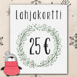 Lahjakortti 25€