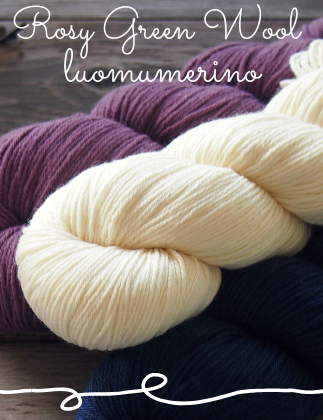 rosy green wool luomumerino